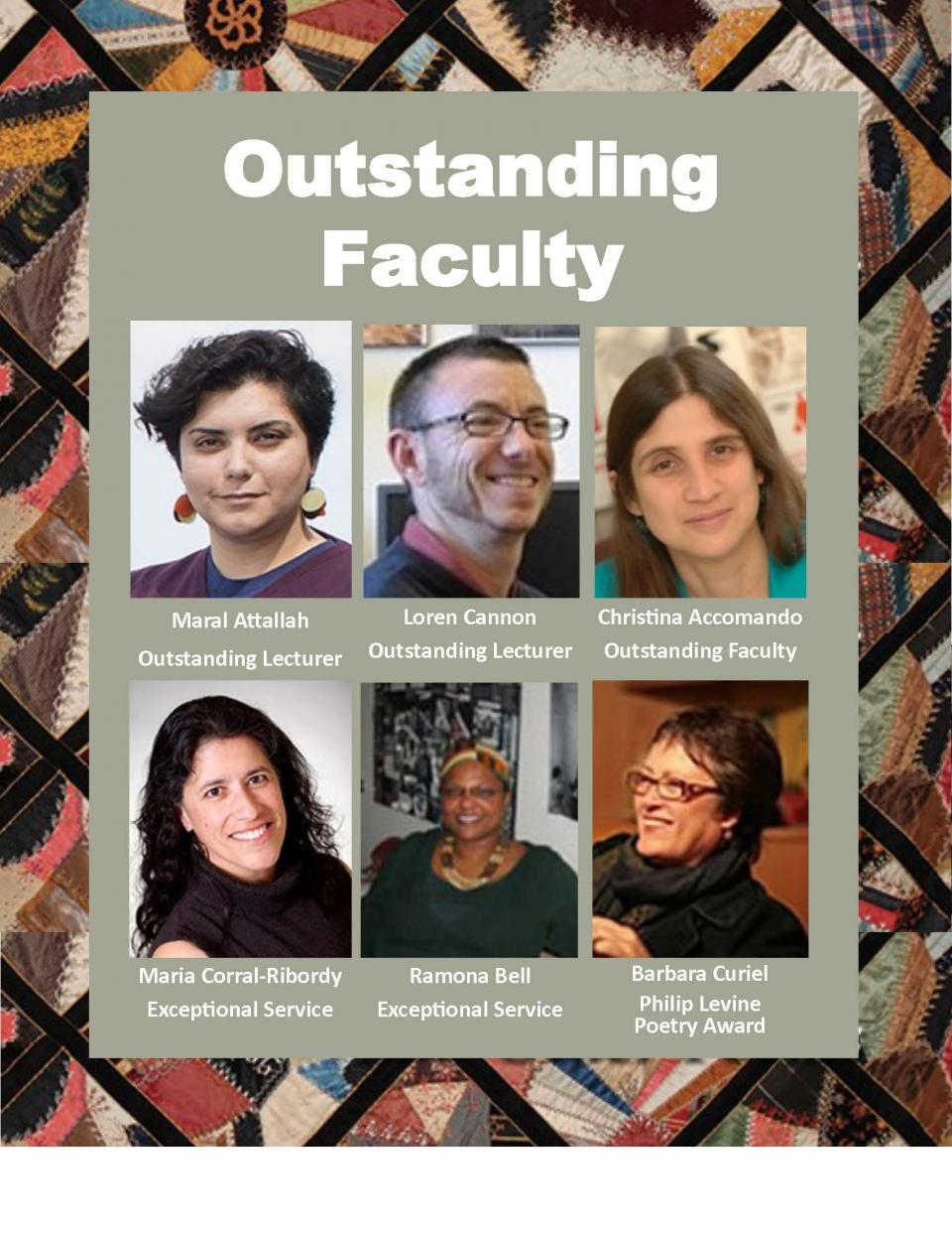 Outstanding CRGS faculty
